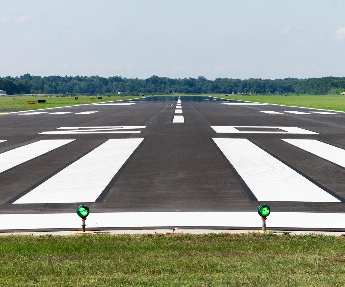 Pitt Greenville Airport runway daytime